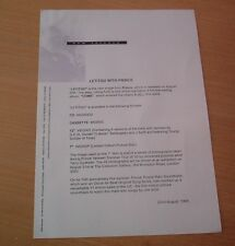 PRINCE LETITGO 1 PAGE PRESS RELEASE 1994
