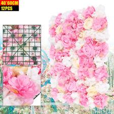 12Stück Künstliche Blume Wand Metope Blumen Strauß Hochzeits Art Floral Decor DE