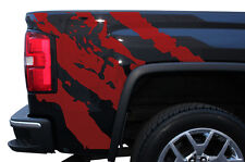 Custom Vinyl Graphics Decal Wrap Kit for 2014-2017 GMC Sierra Parts RIPPED Red
