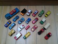 JOB LOT x23  OLD MATCHBOX TOY CARS, LESNEY, ORIGINAL 1970'S/80'S, USED.
