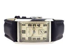 IWC Schaffhausen Stahl mechanische Handaufzug Herren Armbanduhr Vintage um 1940