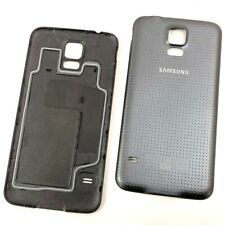 Charcoal Black Battery Cover For Samsung Galaxy S5 G900F i9600 w/ LTE Logo