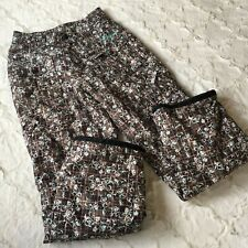 Orage Junior Girl Women Snowboard Pants Size 16 Brown Floral Print