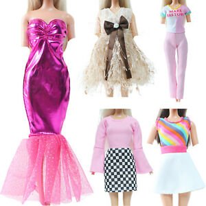 Pink Elegant Lady Outfit Mini Dress Party Clothes for 11.5 inch Doll Clothes Toy