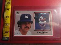 1983 Donruss Action All Star # 15 Ron Guidry Autograph / Signed Card Yankees