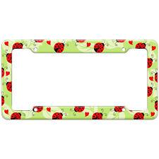 Ladybug Lady Bug Pattern License Plate Frame