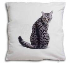 PLATA LUNAR gato atigrado Suave Tacto de Terciopelo Funda de cojín con interior