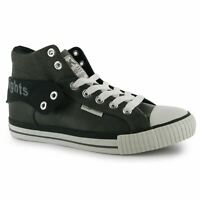 Mens British Knights Roco Fold PU Shoes High Top Textured New
