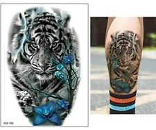 Tiger Waterproof Fake Temporary Tattoo Sticker *UK SELLER /-m72-/