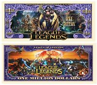 Pack of 100 - League of Legends Collectible Million Dollar Bill