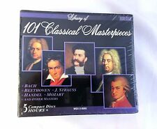 Library of 101 Classical Masterpieces 5 CDs Bach Beethoven Strauss Handel Mozart