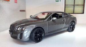 1:24 Modell Bentley Continental Gt Supersport Silbergrau Druckguss 24018 Bnib