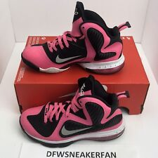 Nike Lebron 9 GS Size 6.5Y 472664-600 Black Pink Youth Air Max Basketball Shoes