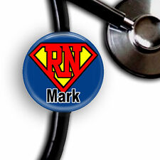 SUPER HERO NURSE PERSONALIZED STETHOSCOPE ID TAG