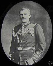 Glass Magic Lantern Slide GENERAL HECTOR MACDONALD C1890 SOLDIER BOAR WAR