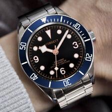 41MM Corgeut Black Dial Sapphire Glass Luminous MIYOTA Automatic Mens Wristwatch