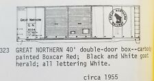 LMH C-D-S CDS 323 GREAT NORTHERN 40' Steel Double Door Boxcar GN Dry Transfer