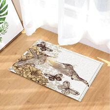 Door Mat Bathroom Rug Bedroom Carpet Bath Mats Rug Hummingbirds and Butterflies
