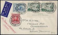 Australia 1934 First Flight Melbourne To Woor Yallock Victoria Franked ScCt Pair