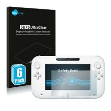 6x Screen Protector For Nintendo Wii U Gamepad (Controller) Clear
