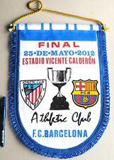 BANDERIN FINAL COPA REY FC BARCELONA ATHLETIC BILBAO 2012 PENNANT WIMPELL FANION