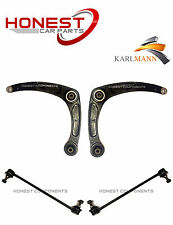 For PEUGEOT 307 01-09 FRONT LOWER WISHBONE ARMS L/R & 2 ANTI ROLL BAR LINKS NEW