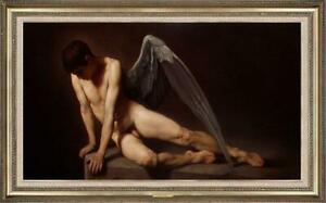 """Hand painted Original Oil Painting art Portrait Male nude on canvas 24""""x40"""""""