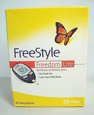 ABBOTT FREESTYLE FREEDOM LITE BLOOD GLUCOSE MONITORING SYSTEM -OPEN BOX UNUSED