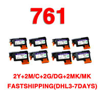2set//8pcs replace for hp761 printhead CH645A CH646A CH647A CH648A T7100 T7200