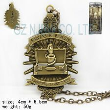 Fantastic Beasts and Where to Find Them mark necklace Bronze pendants Xmas gift