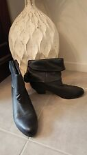 "As New WITTNER ""Lopshop"" sz 37 Black Leather Ankle Boots Buy Any 3=Free Post"
