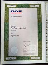 DAF N.V. gewoon aandeel aan toonder groot vijf gulden 13-6-89 bijna compleet