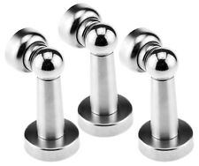 3 Stainless Steel Magnetic Door Stop Stopper Catch Latch Avoid Slamming Wall