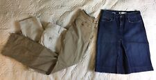 Lot Of 3: Old Navy American Eagle Gap Khakis Capris Blue Jean Skirt Size 0