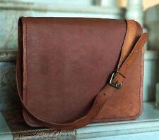 Women & Men Leather Messenger Laptop Bag Computer Distressed Satchel Briefcase