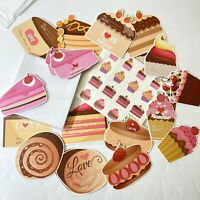 Pastry Valentines Day Cards! 36 w/Envelopes & Matching Tattoos New