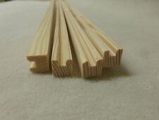 a112 4Stk 100cm Sockelleiste Eiche geweißt 12x40mm Fußleiste Holzleisten