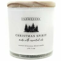 Scentsational Farmhouse Coconut & Beeswax Blend 5oz Candle - Christmas Spirit
