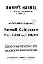 Farmall Deering B Bn 238 Cultivator Operators Manual