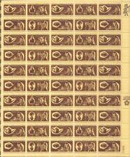 US Stamp - 1972 Colonial Craftsmen - 50 Stamp Sheet Scott #1456-9