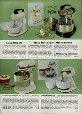 1959 PAPER AD Kitchenaid Deluxe Electric Food Mixer Hamilton Beach Mixmaster