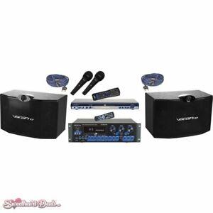 VocoPro KTV-3808 II KTV Digital Karaoke Mixing Amplifier with Speaker Package