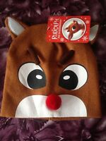 Rudolph The Red Nosed Reindeer Hat Cap Rare Brand New w Tags