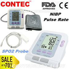 US Seller FDA CONTEC08C Digital blood pressure monitor with SPO2 sensor NIBP PR