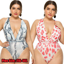Women Sexy Plus Size One-piece Swimsuit Swimwear Bathing Suit Bikini Beachwear