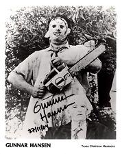 Gunnar Hansen Signed Texas Chainsaw Massacre Leatherface Photo AFTAL COA