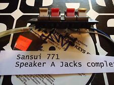 """Sansui 771 Stereo Receiver Parting Out Speaker """"A"""" Output Jacks"""