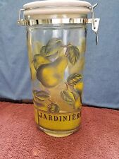 JARDINIER ~~ 2 QT. GLASS CONTAINER with LOCKING LID ~~ FREE SHIPPING!!