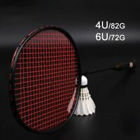 Carbon Fiber Badminton Racket Raquette Super Light Weight Rackets 24-30lbs Sport