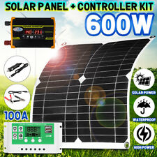 300Watts Solar Panel Kit 100A 12V Battery Charger With Controller Caravan Boat